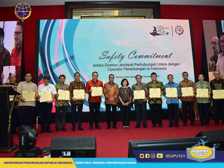 Safety Commitment between DGCA and Aviation Operator Indonesia